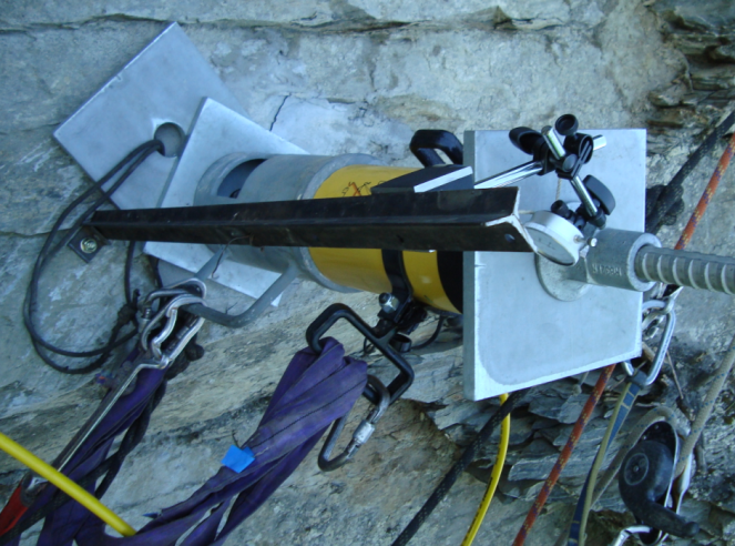 Testing on a vertical cliff